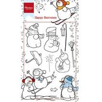 sello transparente: los muñecos de nieve