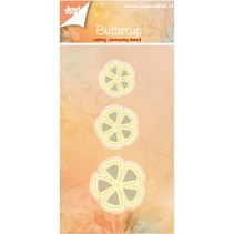 Punching and embossing templates: 3 flowers