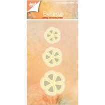 Punzonado y estampado en relieve plantillas: 3 flores