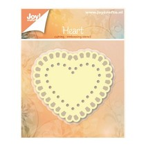 Punching and embossing templates: Heart