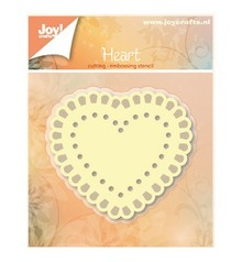 Joy!Crafts und JM Creation Stansning og prægning skabeloner: Heart
