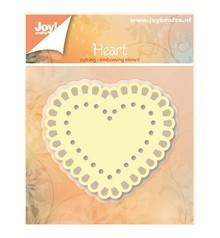 Joy!Crafts und JM Creation Stansning og prægning skabeloner: Heart