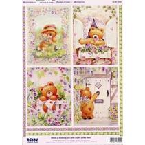 A4 Stanzbogen 3D + 1 Hintergrundbogen: Bären