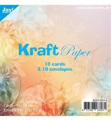 KARTEN und Zubehör / Cards 10 carte Kraft + buste