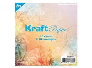 KARTEN und Zubehör / Cards 10 tarjetas Kraft + sobres