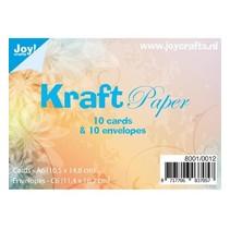 10 Kraft cards + envelopes