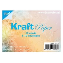 10 tarjetas Kraft + sobres