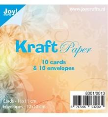 KARTEN und Zubehör / Cards 10 Kraft-kort + kuverter