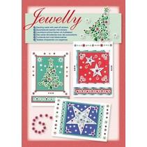 Insieme di scheda: set Jewelly Natale