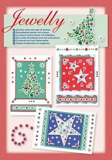 BASTELSETS / CRAFT KITS: Card Set: Jewelly jul sæt