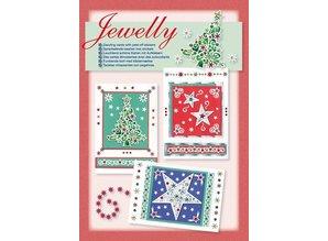BASTELSETS / CRAFT KITS: Conjunto de tarjeta: Jewelly conjunto de Navidad