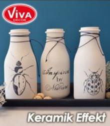Viva Dekor und My paperworld efecto de cerámica: Blanco