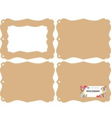 Objekten zum Dekorieren / objects for decorating Hollandsk DooBaDoo: MDF mini album fotoramme