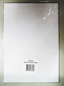 "BASTELZUBEHÖR / CRAFT ACCESSORIES 1 foglio, ""schiuma di uscita"" carta speciale rilascio"