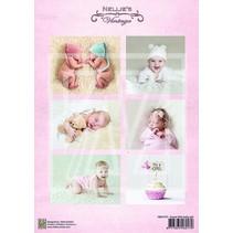 1 Bilderbogen A4: doux bébé fille