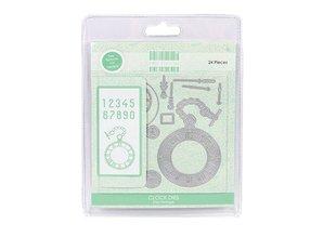 Crafter's Companion Stampaggio e modello di goffratura: orologio e accessori vintage