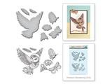 Spellbinders und Rayher Punzonatura e stampaggio stencil + bollo disegni: Eul e insetti