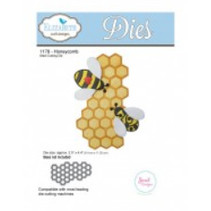 Stanz- und prägeschablone: 1 Bienenwabe