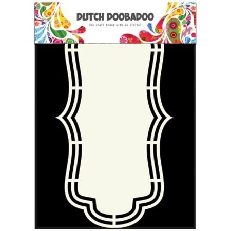 Dutch DooBaDoo A4 Schablone: Shape Art Label