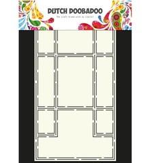 Dutch DooBaDoo A4 Schablone: Card Art Trifold