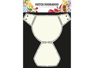 Dutch DooBaDoo A4 Template: Card Type Baby