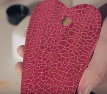 Micro facetter maling, rød
