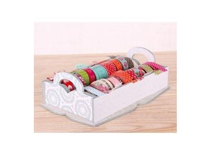 Objekten zum Dekorieren / objects for decorating Caja Holtz para el almacenamiento de cintas decorativas
