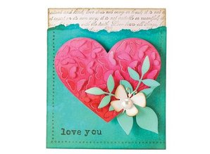 Penny Black Cutting dies: Pop Out Butterflies in heart