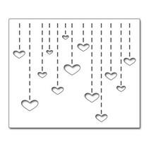 "Stanzschablonen: ""Heart Drops"", Herz Dropfen"