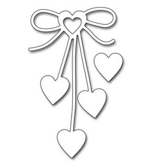 "Penny Black Skæring dør: ""Heart bue"" cardiac loop"