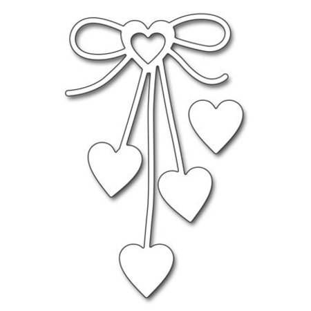 """Penny Black Stanzschablonen: """"Heart bow"""", Herz Schleife"""