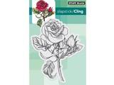 "Penny Black timbre Transparent: ""Red Blush"" Rose Vintage"