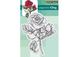 "Penny Black sello transparente: ""rubor rojo"" Vintage Rose"