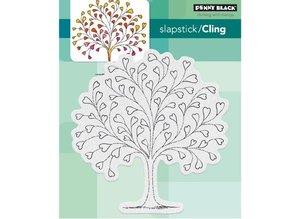 Penny Black Transparent stamp: heart tree