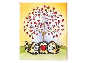 Penny Black sello transparente: Árbol del corazón