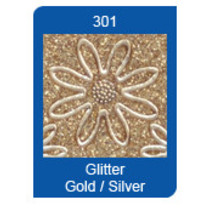 Micro-Glitter-Sticker, Linien, gold