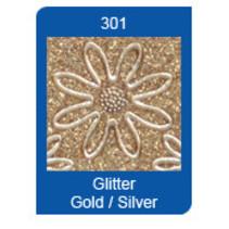 Micro Glitter Stickers, linjer, guld
