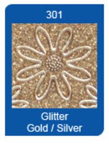 Sticker Micro Glitter Stickers, lines, gold