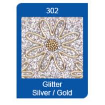 Micro-Glitter-Sticker, Linien, silber/gold