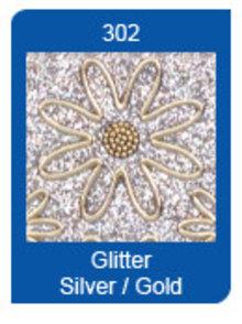 Sticker Micro Glitter adesivi, linee, argento / oro