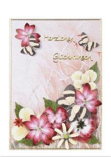BLUMEN (MINI) UND ACCESOIRES Twin Pack Flowerart, rosso