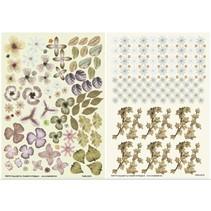 Twin Pack flowerart, brown