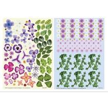 Twin Pack flowerart púrpura,