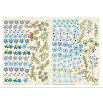Twin Pack flowerart, blue, small