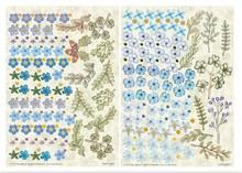 BLUMEN (MINI) UND ACCESOIRES Twin Pack Flowerart, blu, piccolo