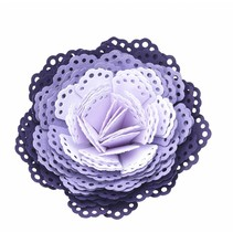 EK Punch 3D dimensionel mellemlægsserviet / 3D blomst