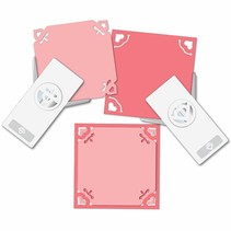 EK punch with 2 mini corner with heart