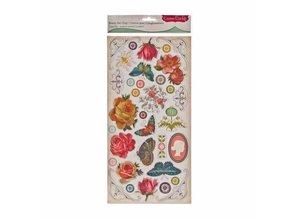 Embellishments / Verzierungen spånplader klistermærker, 34 designs