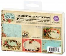 Prima Marketing und Petaloo 45 Labels von Prima Marketing, Journaling Notecards