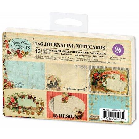 Prima Marketing und Petaloo 45 etiketter fra Prima Marketing, Journaling Notecards
